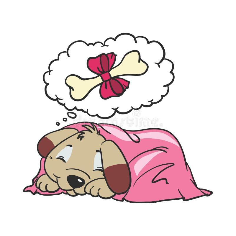 Illustration comique de vecteur de bande dessinée de chien illustration stock