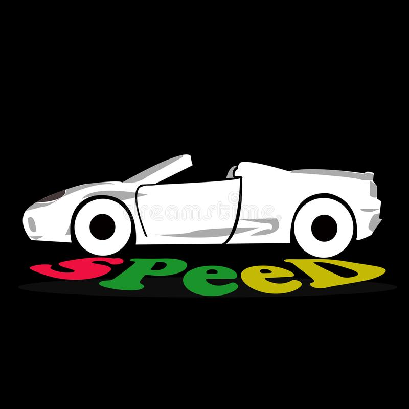 Illustration-commun de voiture de sport utilisée pour l'emballage illustration libre de droits