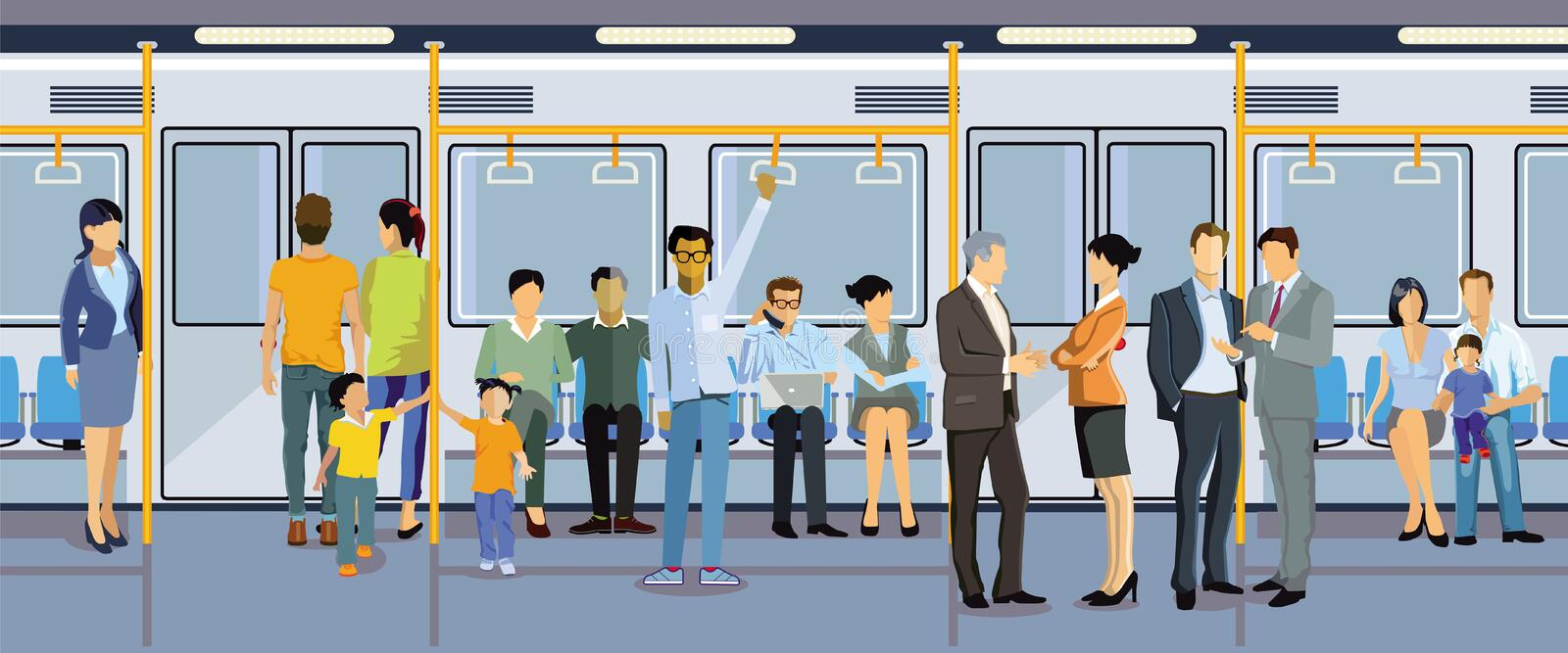 Passengers in subway royalty free stock image