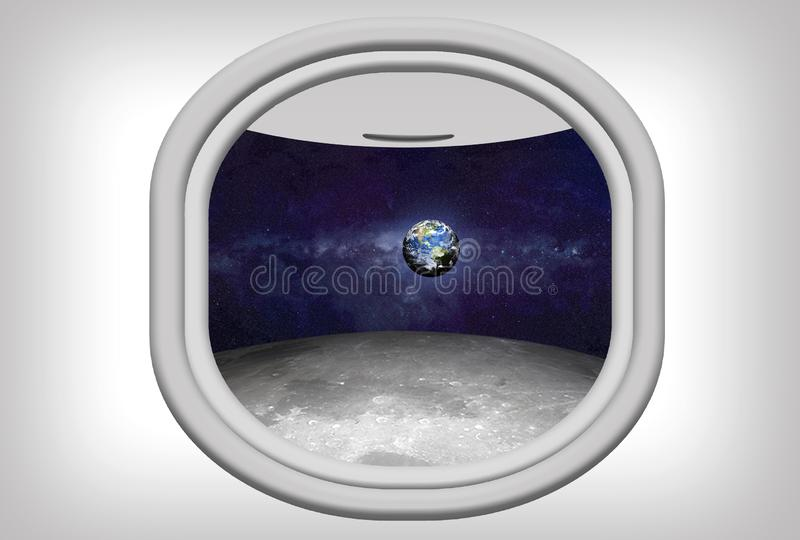 Space Travel  Conceptual royalty free illustration