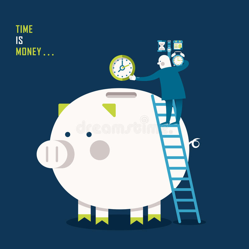 Illustration concept of time is money vector illustration