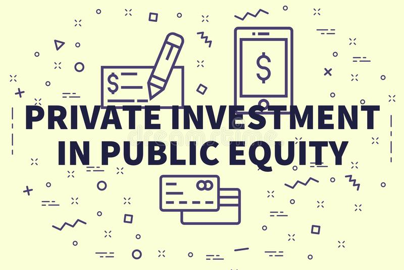 Illustration conceptuelle d'affaires avec l'investme privé de mots illustration de vecteur