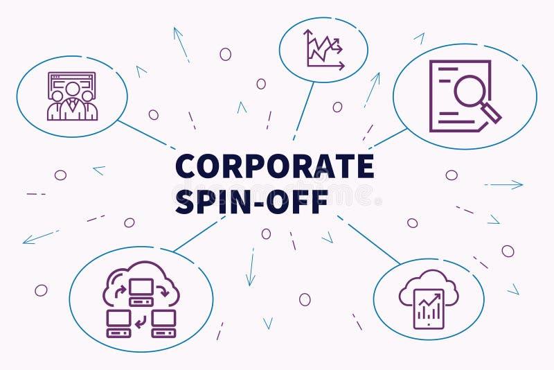 Illustration conceptuelle d'affaires avec la rotation-o d'entreprise de mots illustration de vecteur