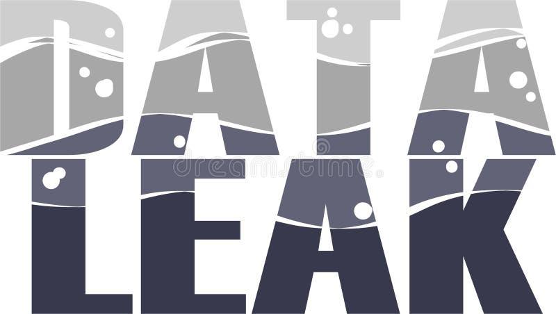 Illustration conceptuelle de Word de fuite de données illustration libre de droits
