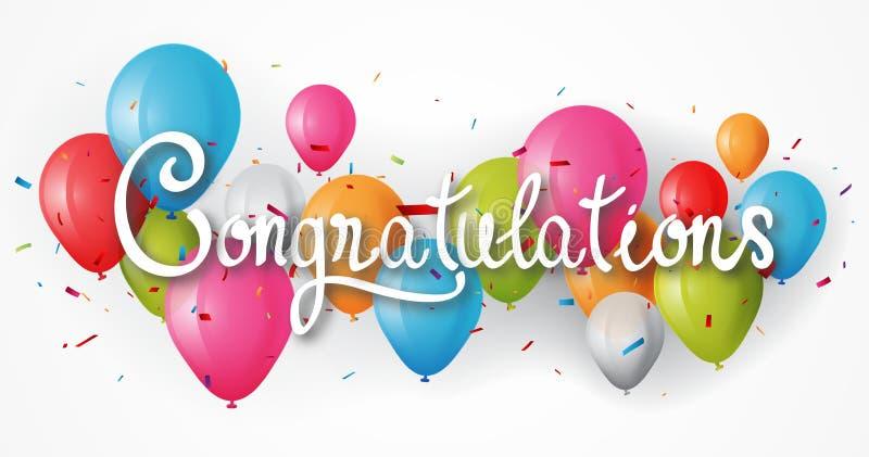 Congratulations Balloon Stock Illustrations 8 422 Congratulations Balloon Stock Illustrations Vectors Clipart Dreamstime