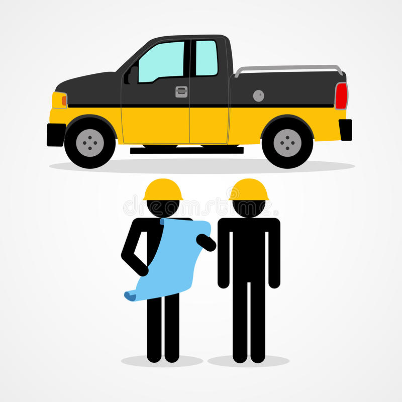 Illustration of a construction workers royalty free illustration