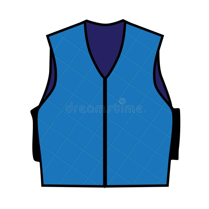 Illustration of a Cooling Vest. A piece of specially made clothing designed to lower or stabilize body temperature royalty free illustration