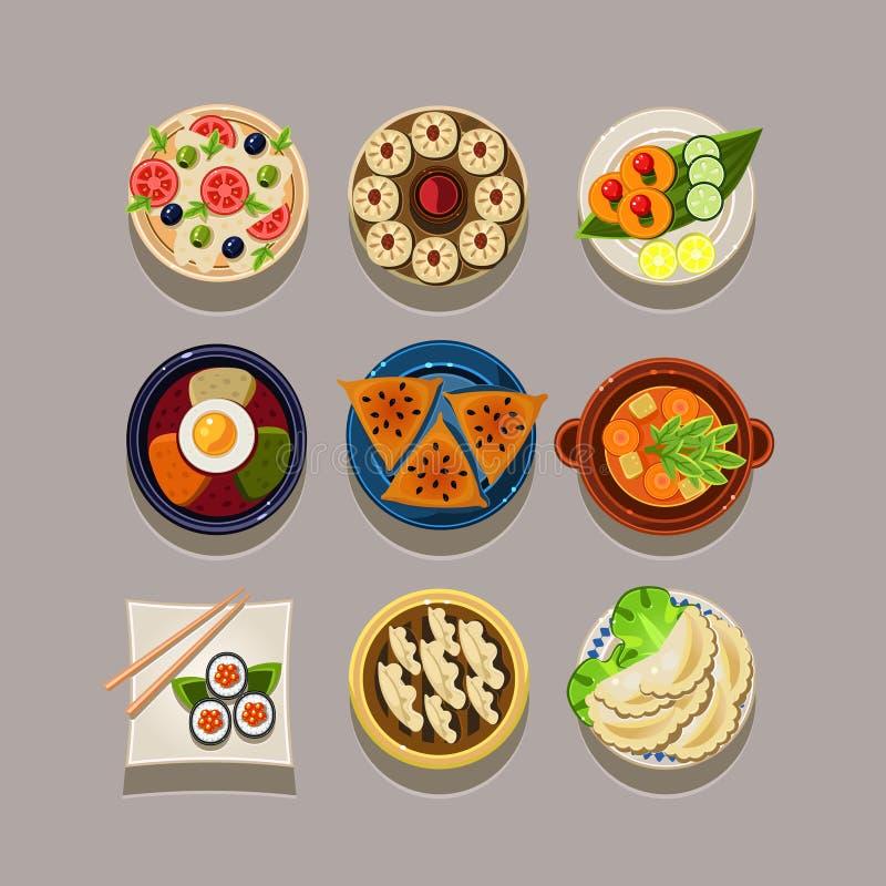 Illustration coréenne de vecteur de nourriture illustration libre de droits