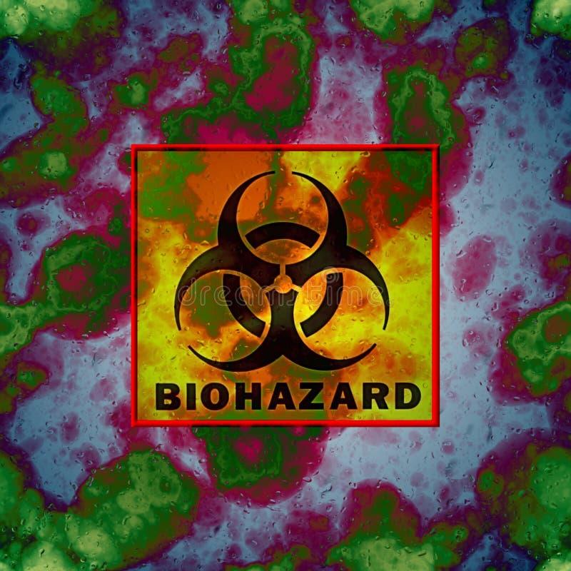 Illustration courante avec le signe de Biohazard illustration stock