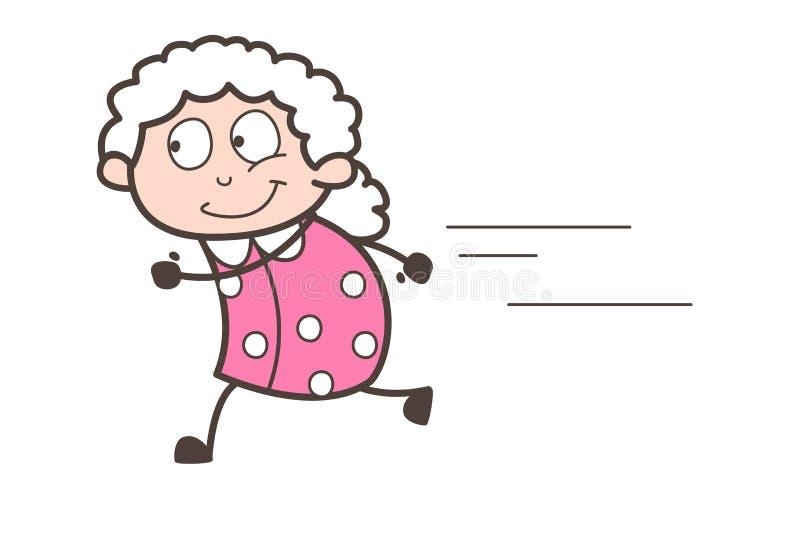Illustration courante de vecteur de grand-maman de bande dessinée illustration libre de droits