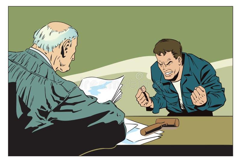 Illustration courante L'homme est furieux illustration de vecteur