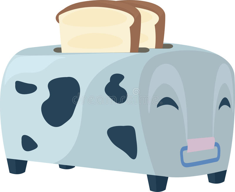 Download Illustration cow toaster stock vector. Image of hungry - 22940923