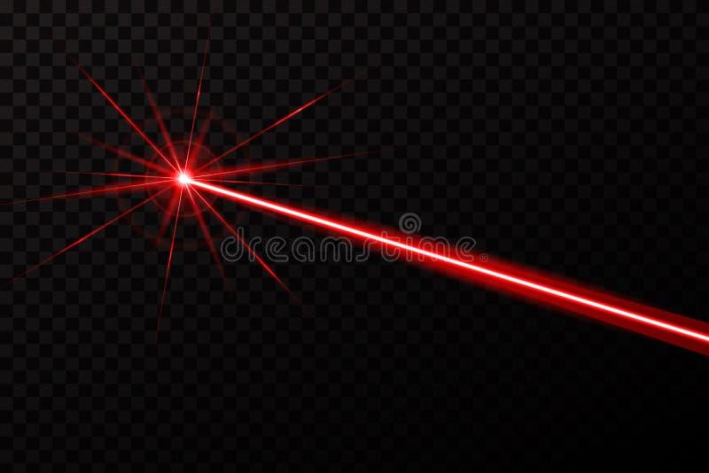 Illustration créative de faisceau de degré de sécurité de laser sur le fond transparent Rayon léger d'éclat de conception d'art C illustration libre de droits