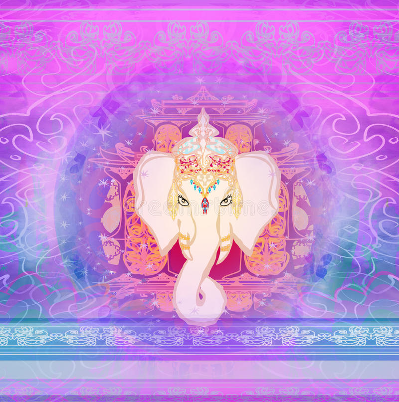 Illustration créative de Lord Ganesha indou illustration de vecteur