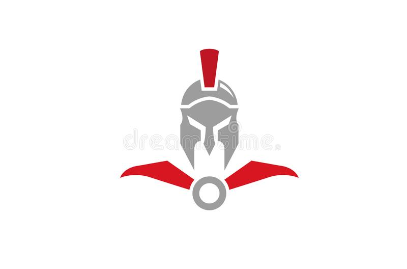 Illustration créative de symbole de Spartan Helmet Logo Design Vector illustration de vecteur