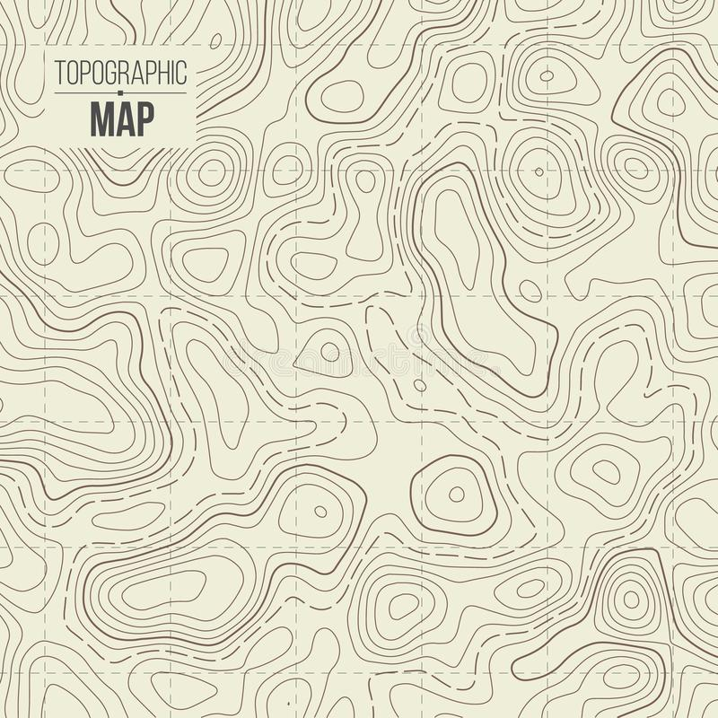 Illustration créative de vecteur de carte topographique Fond de découpe de conception d'art Élément de concept abstrait et sch gr illustration de vecteur