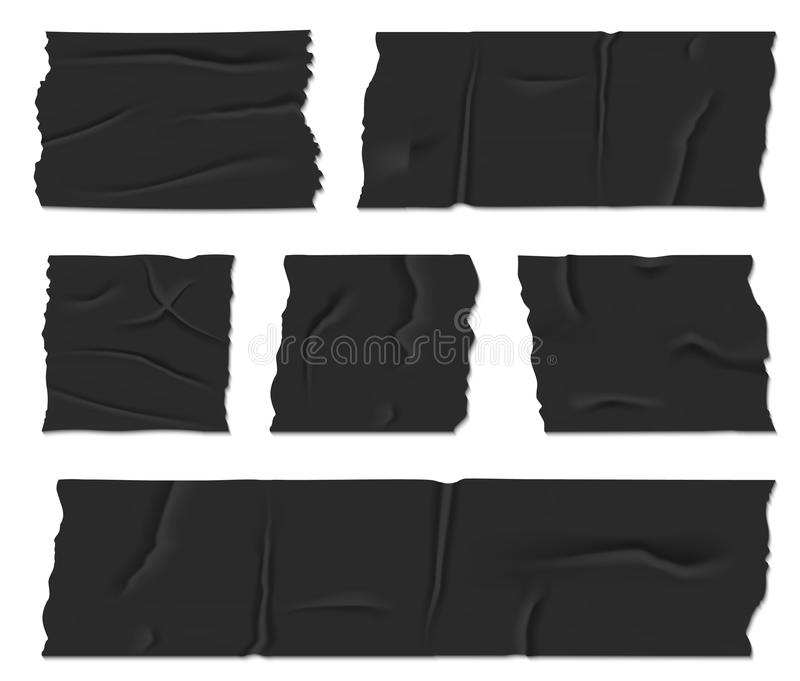 Illustration créative de vecteur de conduit isolant le ruban adhésif d'isolement sur le fond transparent Colle collante de concep illustration stock