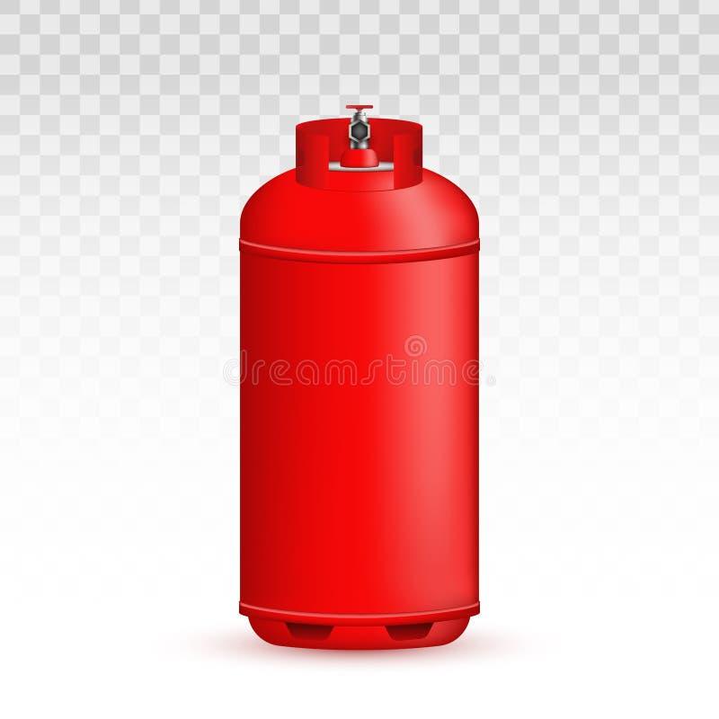 Illustration créative de vecteur de cylindre de gaz, réservoir, ballon, conteneur de propane, butane, acétylène, dioxyde de carbo illustration de vecteur