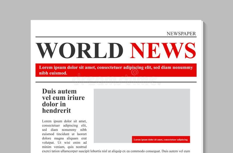 Illustration créative de vecteur du journal de quotidien, actualités promotionnelles d'affaires d'isolement sur le fond transpare illustration libre de droits