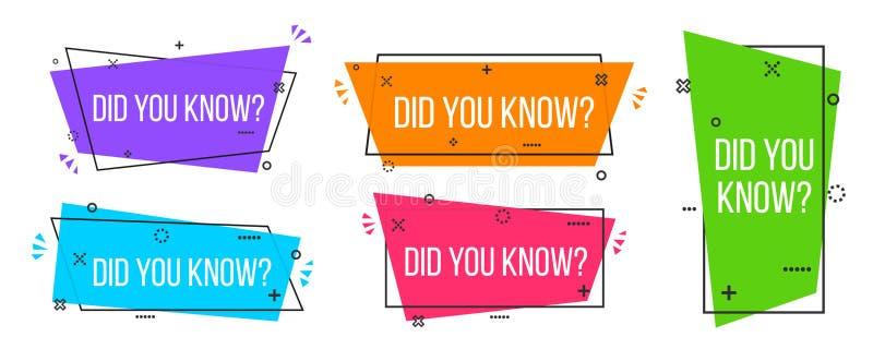 Illustration créative de vecteur de vous avez connu l'insigne de label de point d'interrogation d'isolement sur le fond transpare illustration stock