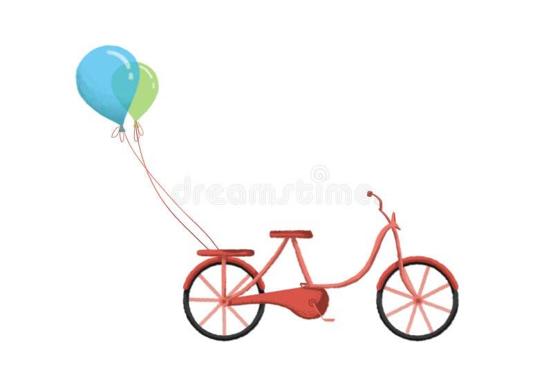 Illustration créative et art innovateur : Bicyclette illustration libre de droits