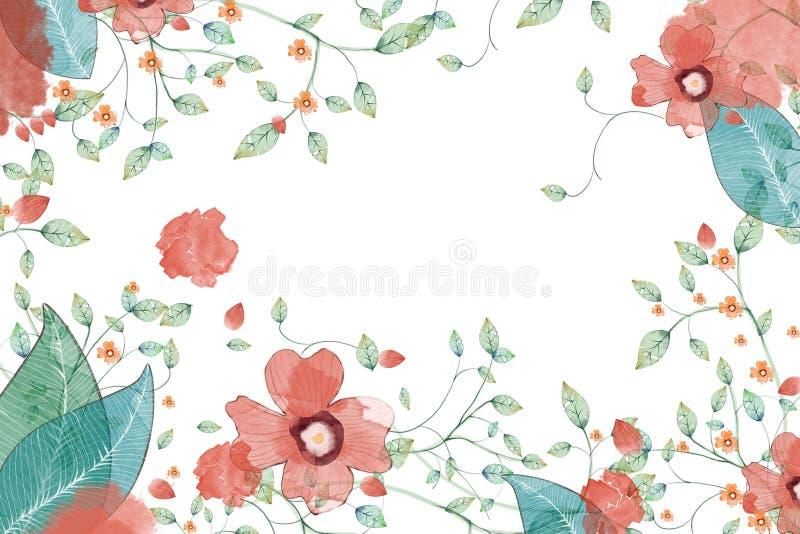 Illustration créative et art innovateur : Fleur et feuilles illustration libre de droits