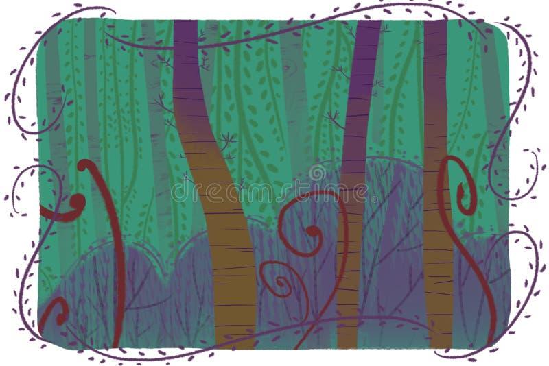 Illustration créative et art innovateur : Forest Card illustration stock