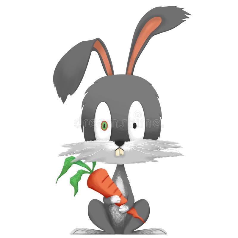 Illustration créative et art innovateur : Lapin idiot - conception de personnages illustration stock