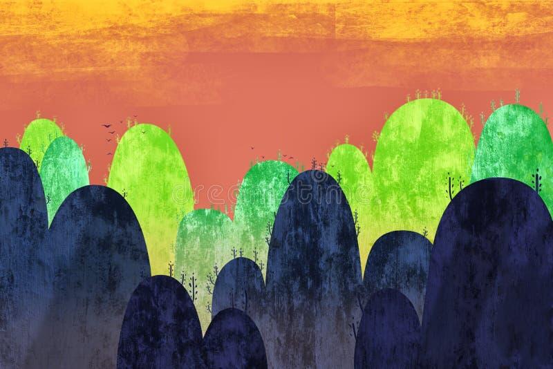 Illustration créative et art innovateur : Nature colorée illustration stock