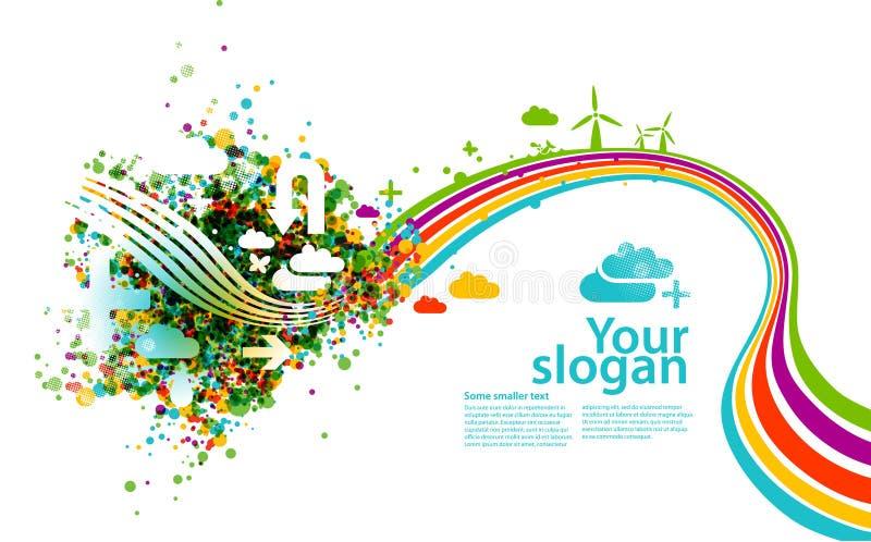 Illustration créatrice d'eco illustration libre de droits