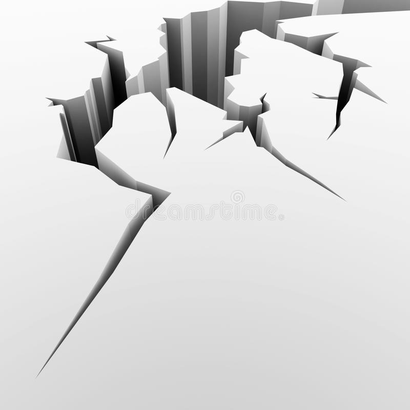 Illustration of a crack vector illustration