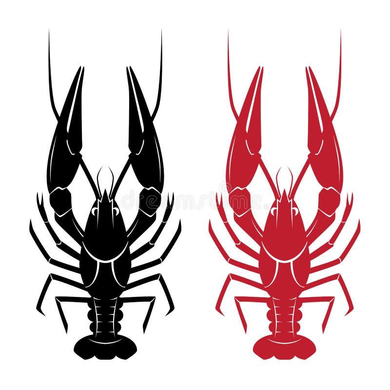 Illustration of crawfish stock illustration