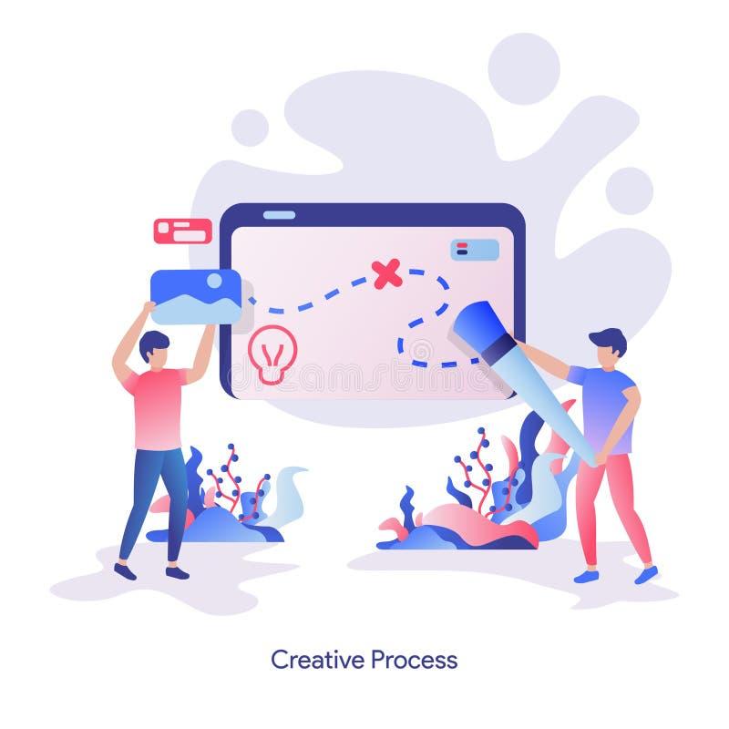 illustration Creative Process stock illustration