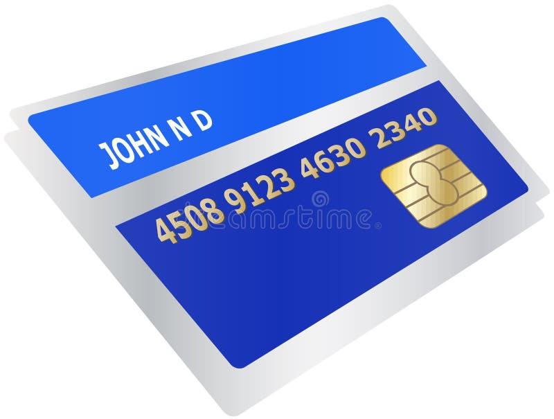 Illustration of credit card. Illustration of a credit card vector illustration