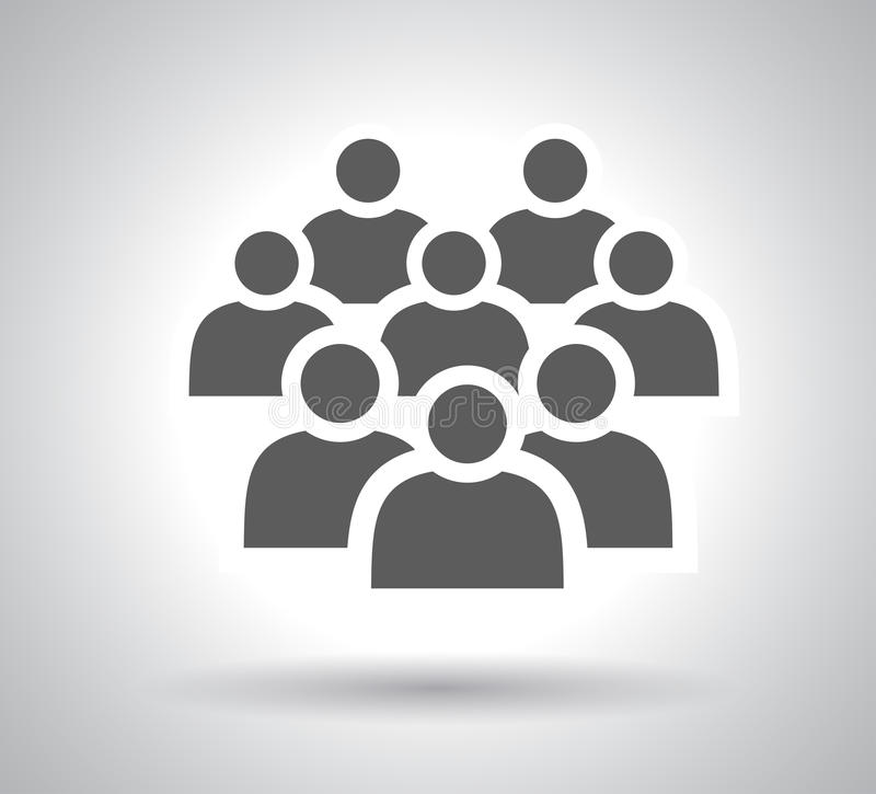 Illustration of crowd people - icon silhouettes vector. Illustration of crowd of people - icon silhouettes vector. Social icon. Flat style design stock illustration