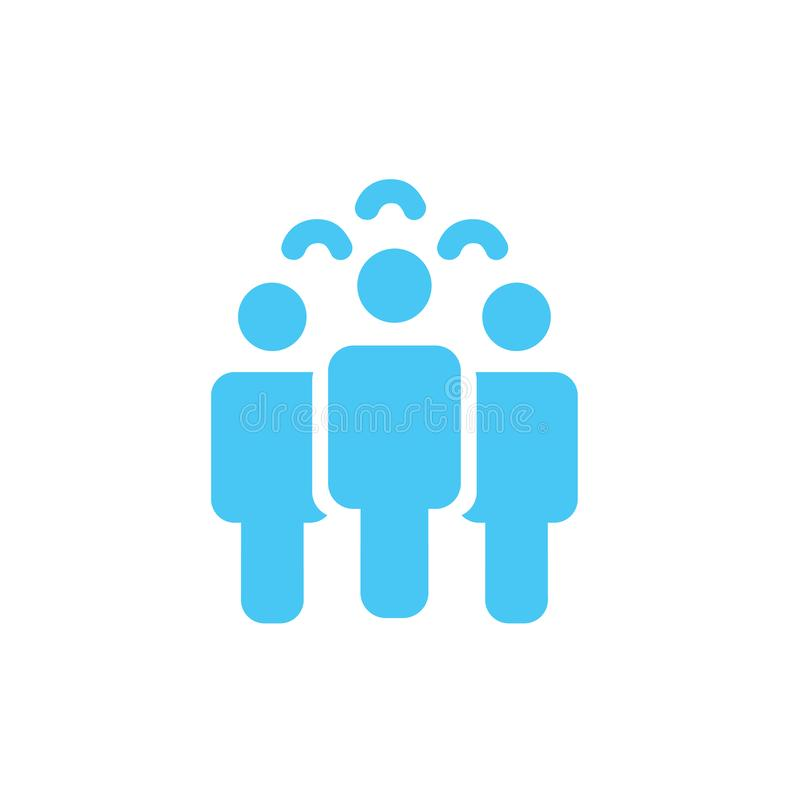 Illustration of crowd of people icon silhouettes vector. Social icon. Flat style design. User group network. Corporate team group. Community member icon stock illustration