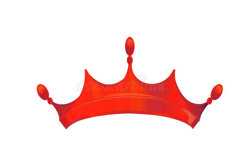 Illustration of crown icon style on white background. Illustration crown icon style white background red head prince king item model concept idea creative s8mple royalty free stock photo