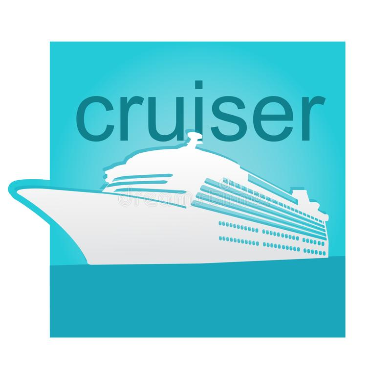 Cruiser travel illustration vector art stock images