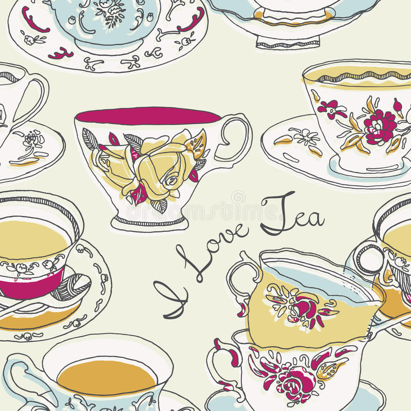 Download Illustration Of Cups And Saucers Stock Illustration - Image: 23934118