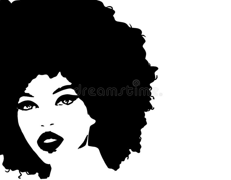 Black girl with afro art
