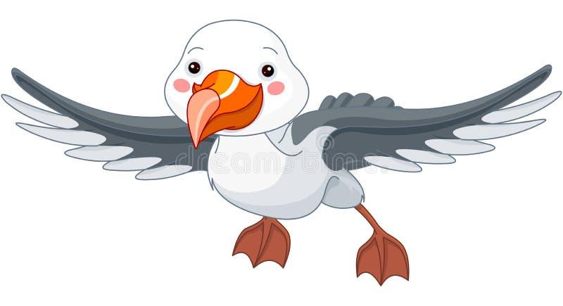 Albatross. Illustration of a cute albatross stock illustration