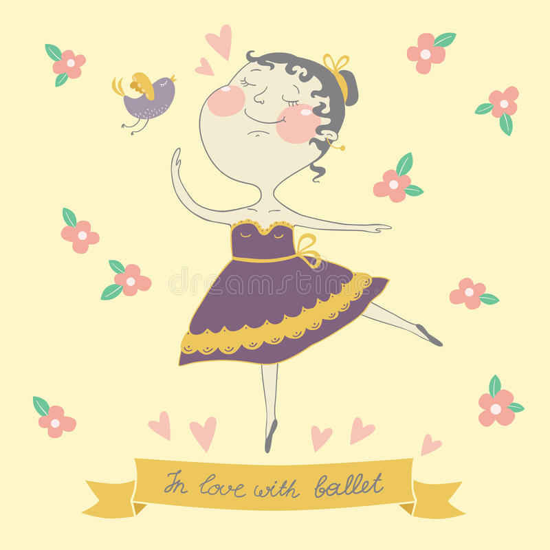 Download Illustration Of Cute Ballerina Stock Vector - Illustration: 30776376