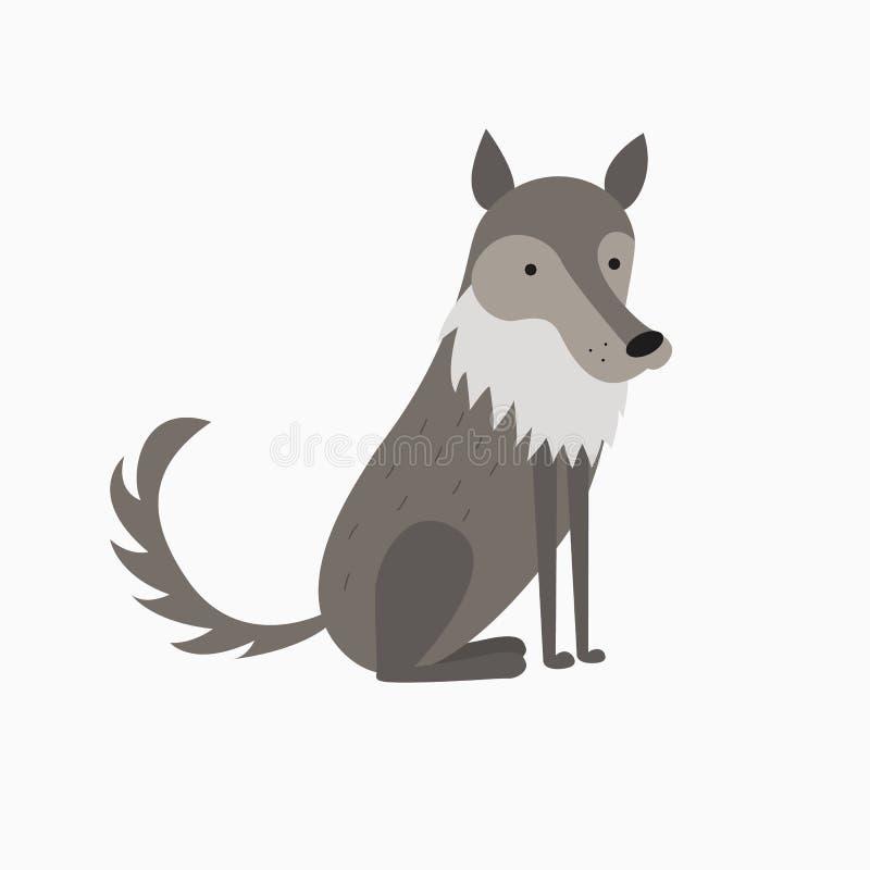 illustration of cute cartoon wolf stock vector - illustration of