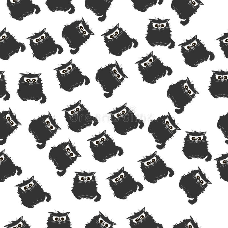 Illustration of a Cute cat. Very high quality original trendy vector seamless pattern with a Cute cat royalty free illustration