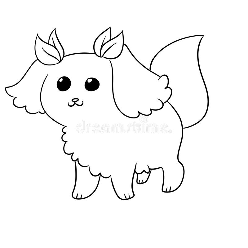 Illustration of a cute dog. Illustration of a very cute lovable dog stock illustration