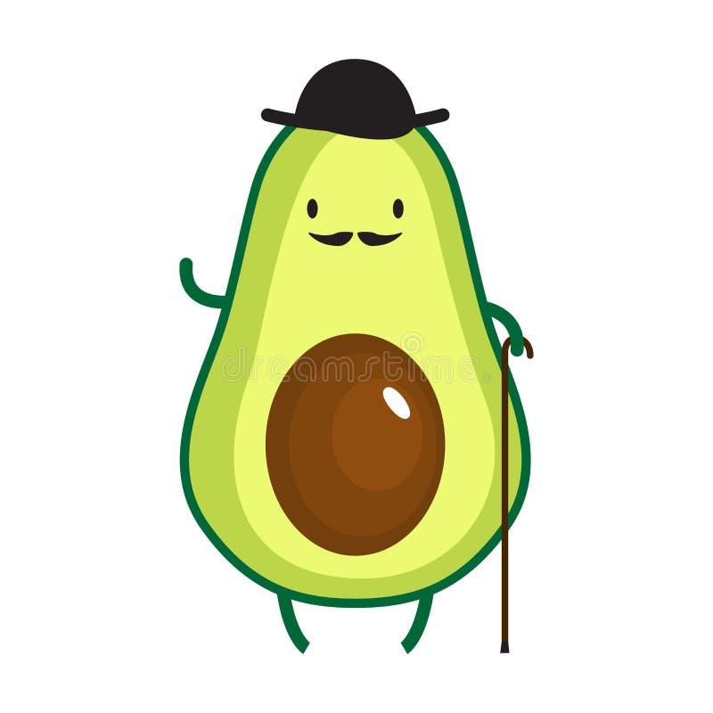 Illustration Of Cute Gentlemen Avocado Stock Vector