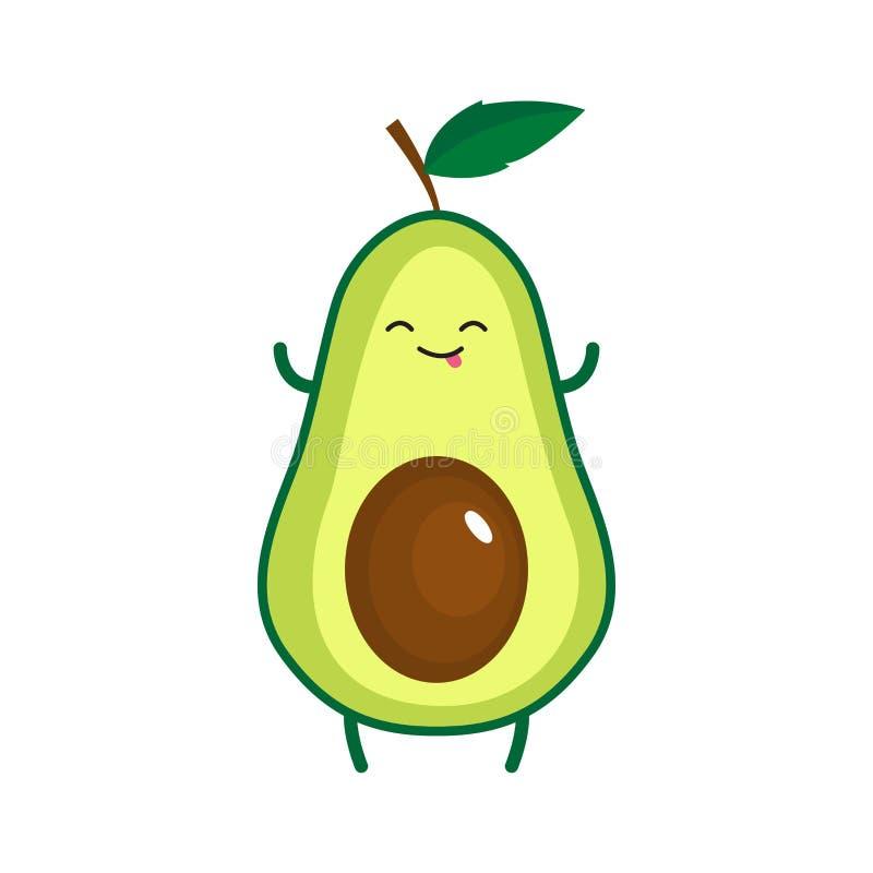Illustration Of Cute Happy Avocado Stock Illustration
