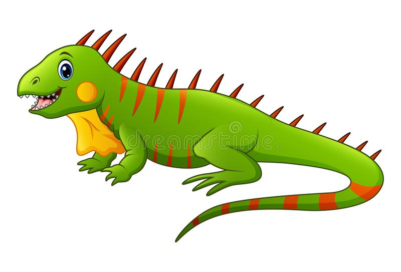 Cute lizard cartoon vector illustration