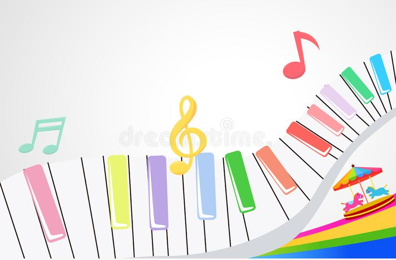 Cute piano background royalty free stock image