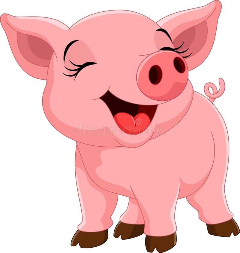Cute pig cartoon stock illustration. Illustration of ...